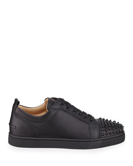 Image 3 of 5: Christian Louboutin Men's Louis Junior Spiked Low-Top Sneakers