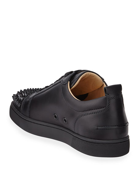 Image 4 of 5: Christian Louboutin Men's Louis Junior Spiked Low-Top Sneakers