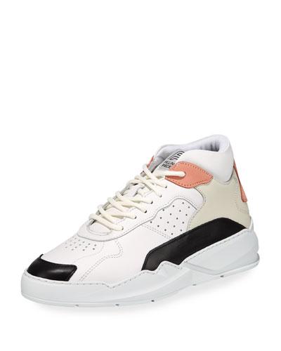 Men's Flow 2 Leather Mid-Top Sneakers