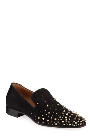 Christian Louboutin Men's Milkylion Studded Venetian Loafers