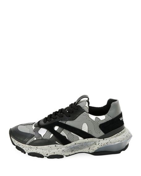 Valentino Garavani Men's Bounce Camo Runner Sneakers