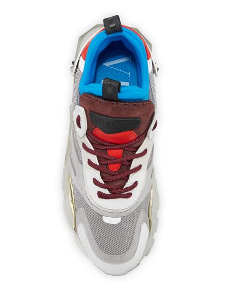 Valentino Garavani Men's Bounce Colorblock High-Top Lace-Up Sneakers
