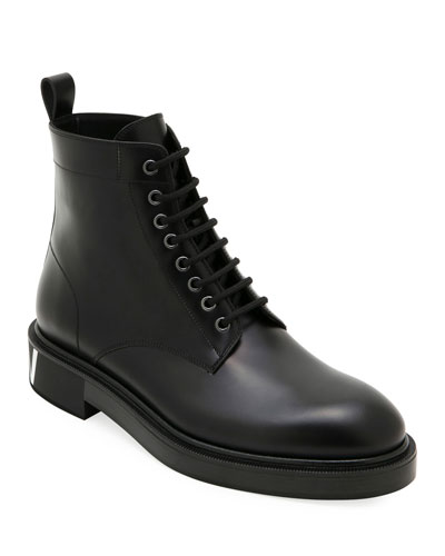 Men's Leather Lace-Up Boots