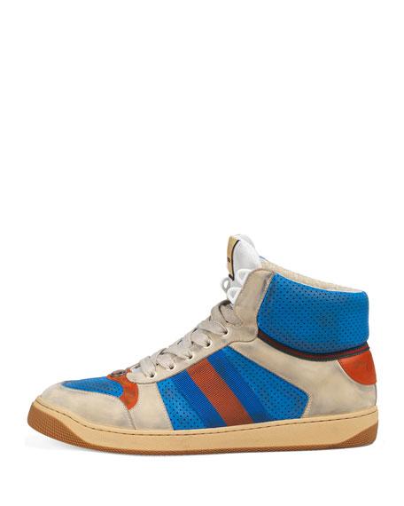 Gucci Men's Screener High-Top Sneakers