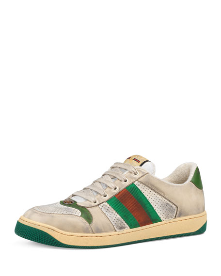 Gucci Men's Screener Leather Low-Top Sneakers