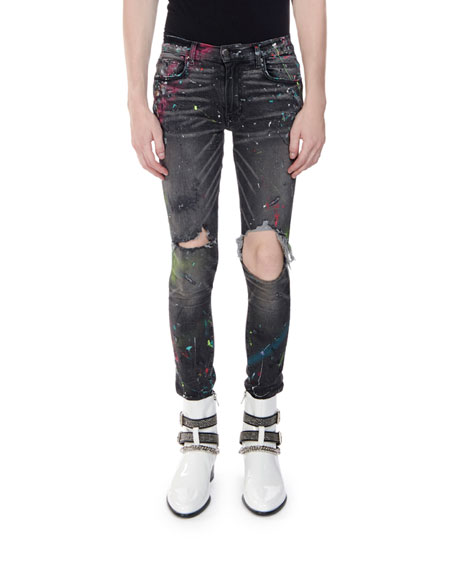 Amiri Men's Graffiti Denim Jeans