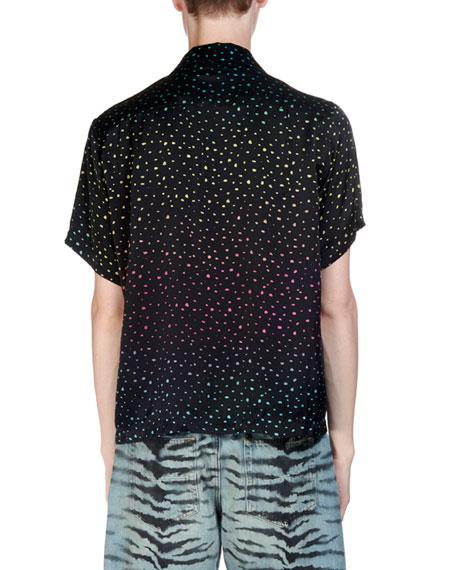 Amiri Men's Short-Sleeve Dotted Shirt