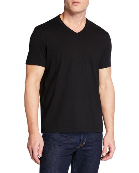TOM FORD Men's Short-Sleeve V-Neck T-Shirt, Black