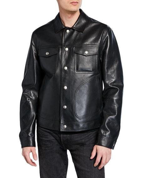 TOM FORD Men's Reversible Bonded-Leather Jacket
