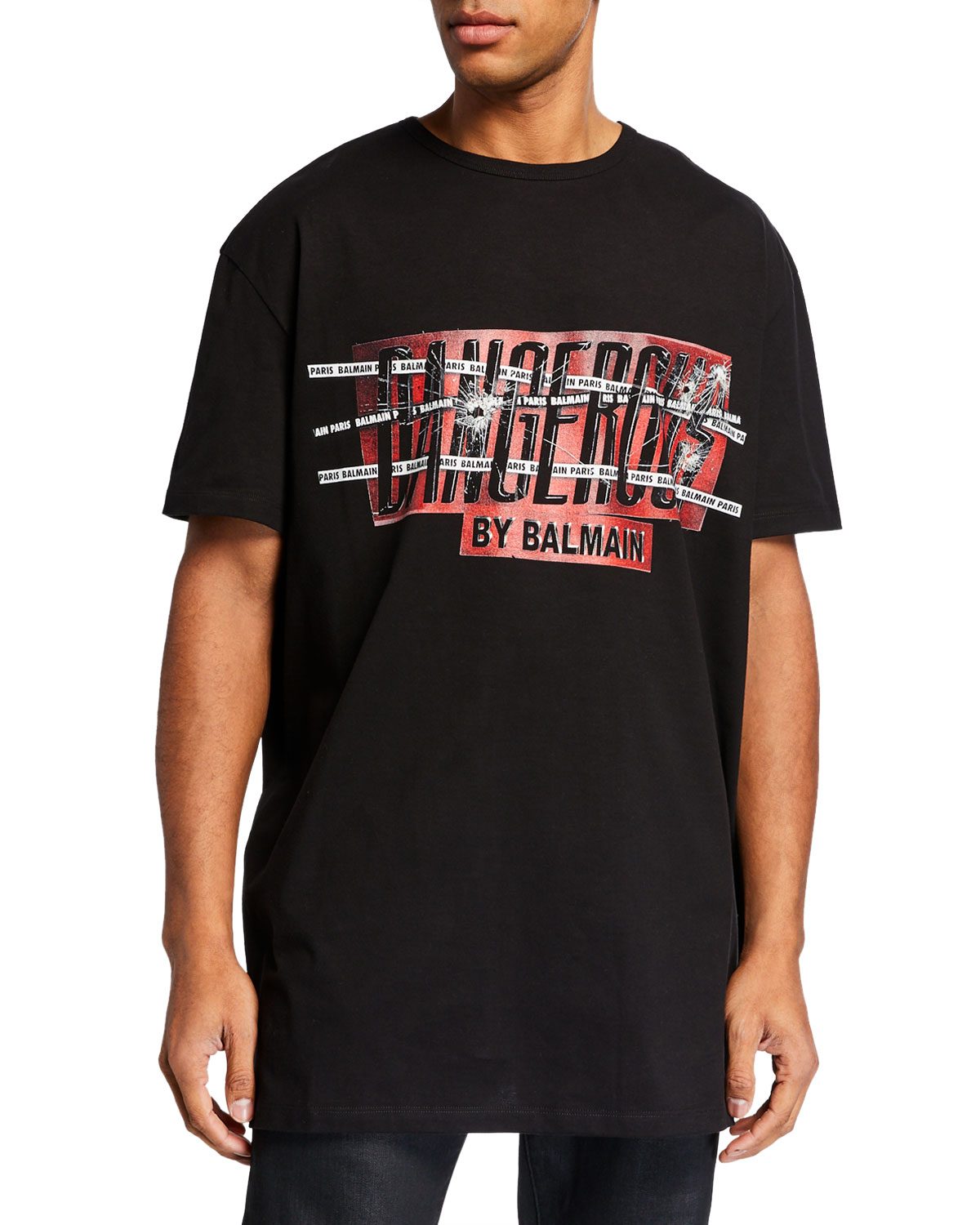 480f7137 Balmain Men's Dangerous Graphic T-Shirt | Neiman Marcus