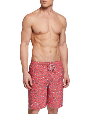 228626313f Peter Millar Men's Confetti Boats Print Swim Trunks. Favorite. Quick Look