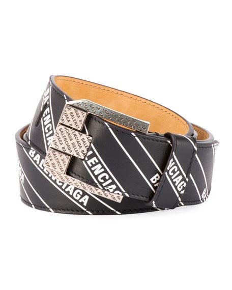 Balenciaga Men's Wordmark Signature Belt
