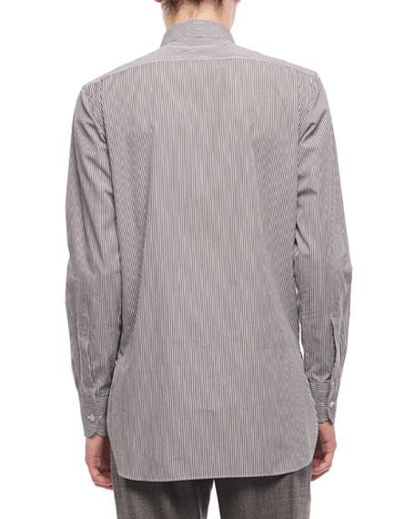 Image 2 of 2: THE ROW Men's Ahmet Striped Sport Shirt