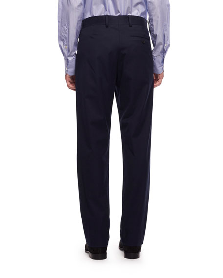 THE ROW Men's Hunter Tapered Twill Pants, Blue