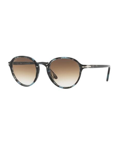 7b1e35f69f Persol Men s Round Tortoiseshell Acetate Sunglasses