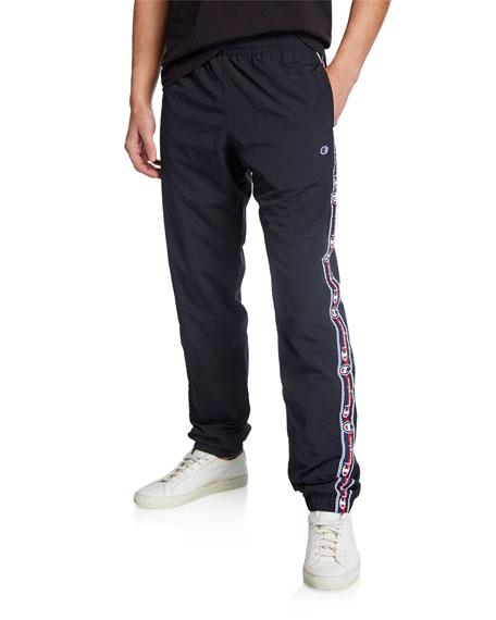 Champion Europe Men's Logo Side-Taping Track Pants