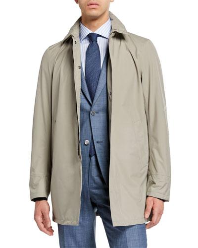 Men's City Trench Coat  Tan