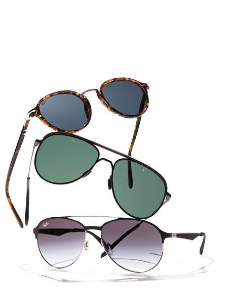 Vuarnet Men's Metal-Capped Pilot Sunglasses - Polarized