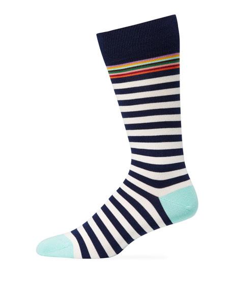 Paul Smith Men's Multi-Stripe Socks