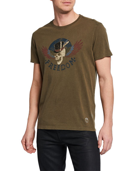 John Varvatos Star USA Men's Freedom Skull Graphic T-Shirt