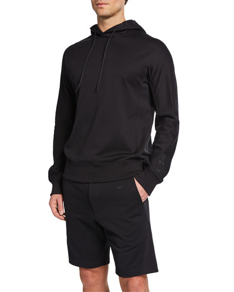Y-3 Men's Classic Terry Cloth Hoodie, Black