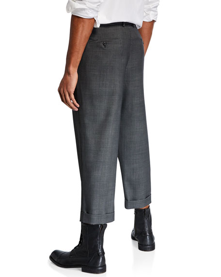 R13 Men's Crossover Loose-Fit Trousers