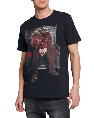 Men's Notorious B.I.G. Throne Curtis Graphic T-Shirt