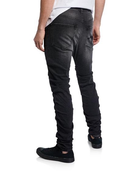 R13 Men's Gathered Skinny Jeans