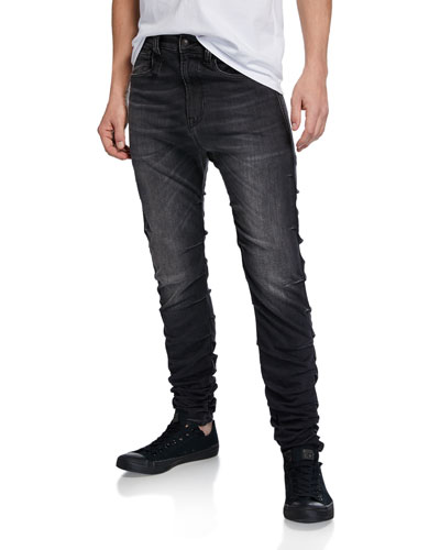 Men's Gathered Skinny Jeans