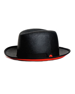 6dc0dfe132c94 Keith and James Men s Straw Hat with Red Suede Brim