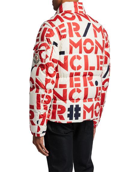 Moncler Genius Men's Jehan Logo-Print Puffer Jacket