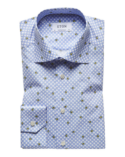 Men's Avocado Dot Sport Shirt