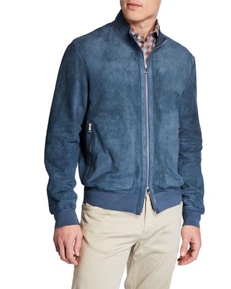 Ruffo Men's Suede Zip-Front Jacket