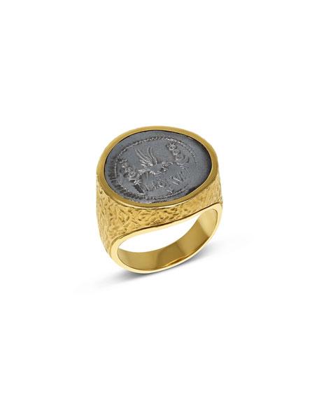 Jorge Adeler Men's Marc Antony Ancient Coin 18K Gold Ring