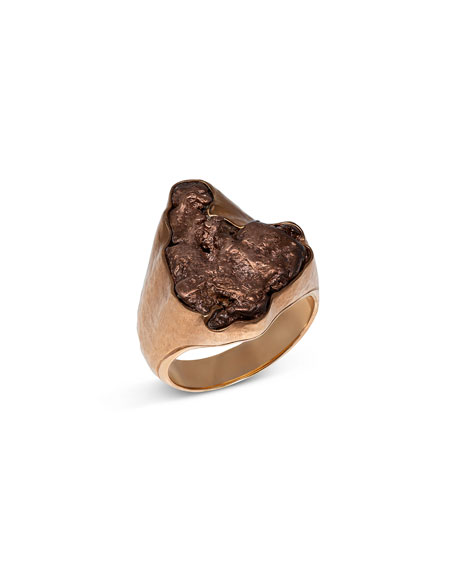 Jorge Adeler Men's Natural Arizona Copper 18K Gold Ring