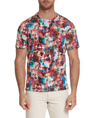 105e5557 Robert Graham Men's Sparta Graphic Crewneck T-Shirt