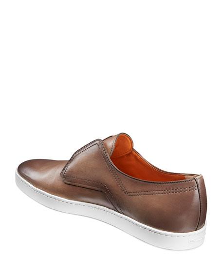 Santoni Men's Icarius Leather Low-Top Sneakers