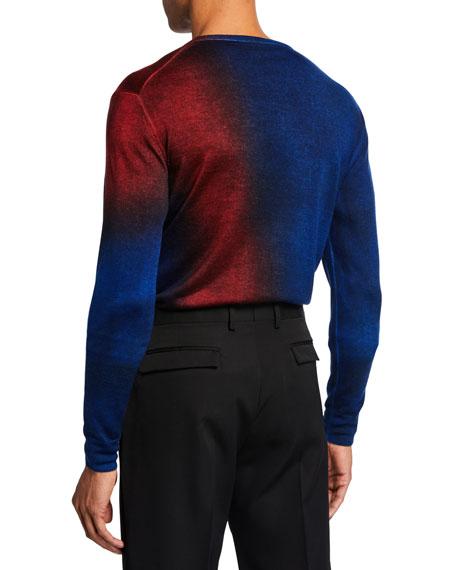 Berluti Men's Two-Tone Crewneck Sweater