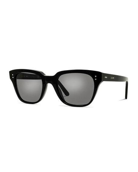 Celine Men's Square Acetate Sunglasses