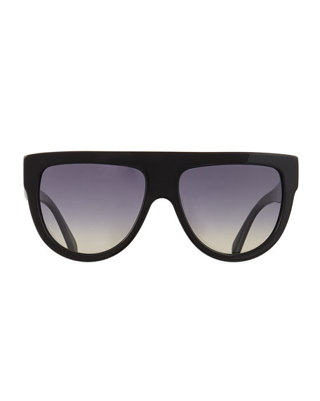 Celine Men's Flattop Two-Tone Shield Universal-Fit Sunglasses