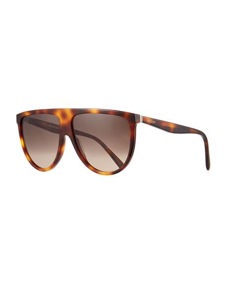 Celine Men's Flattop Shield Sunglasses