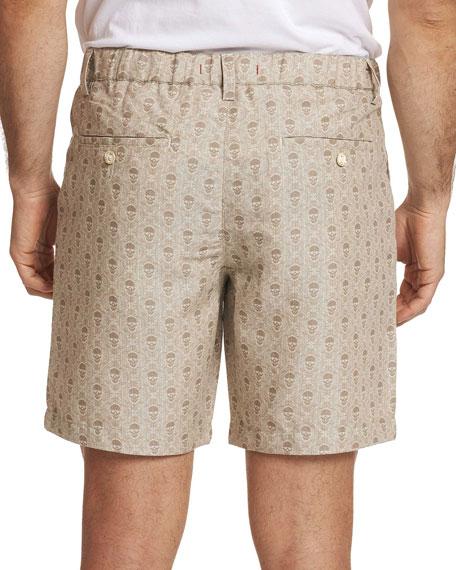 Robert Graham Men's Babson Skull-Print Twill Shorts