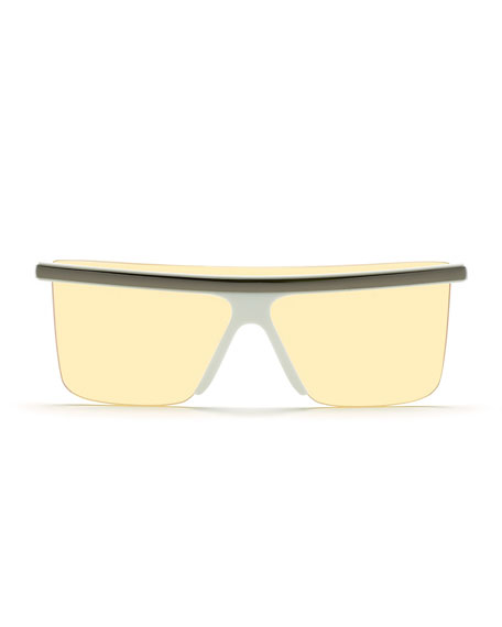 Image 2 of 2: Kenzo Men's Flattop Shield Sunglasses