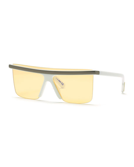 Image 1 of 2: Kenzo Men's Flattop Shield Sunglasses