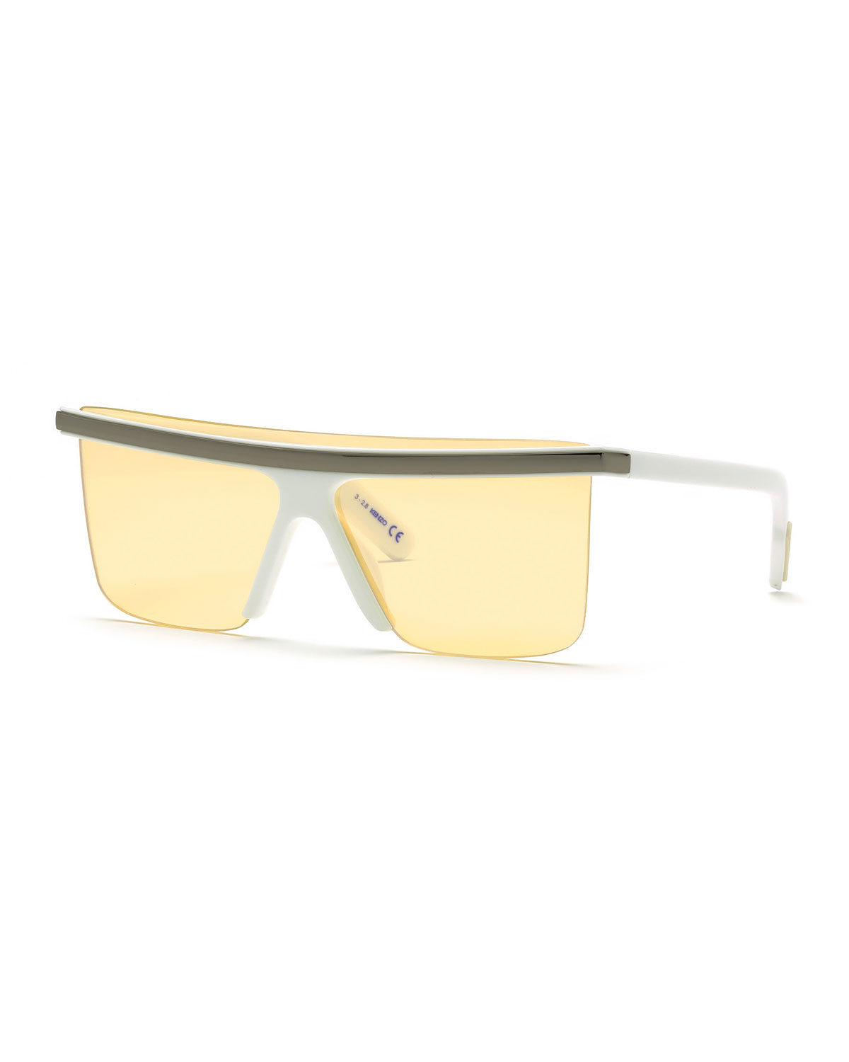 Kenzo Men's Flattop Shield Sunglasses
