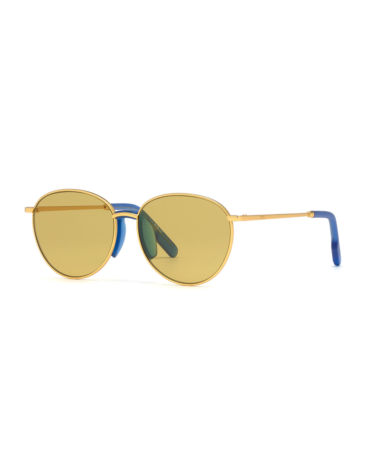 Kenzo Men's Round Metal Sunglasses w/ Injected Plastic Trim