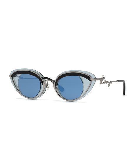 Kenzo Men's Eye-Aesthetic Metal Sunglasses