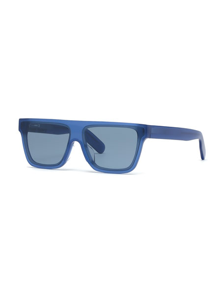 Kenzo Men's Flat-Top Acetate Sunglasses