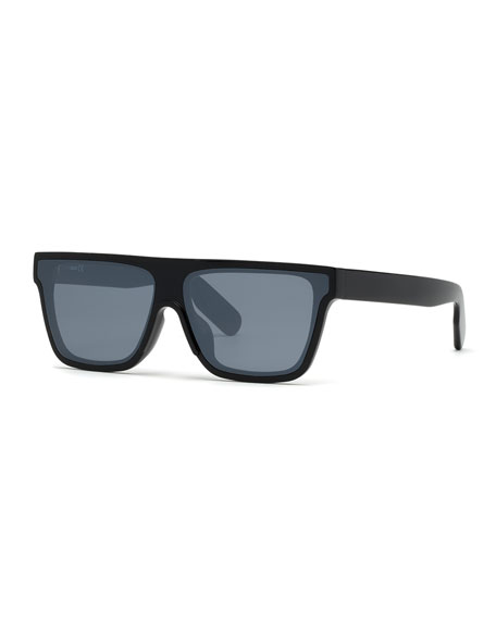Kenzo Men's Flat-Top Acetate Sunglasses, Black