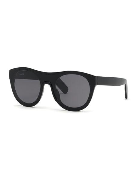Kenzo Men's Round Acetate Sunglasses, Black